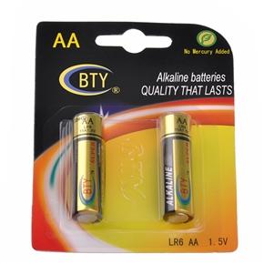10 Sets per Pack! BTY LR6 AA 1.5V Mercury-free Alkaline Batteray (2pcs/set)