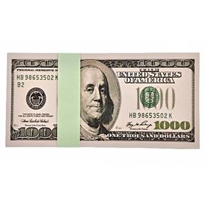 $100 Bill 6.5-inch Dollar Memo Dollar Notepad Writing Pad (Green)