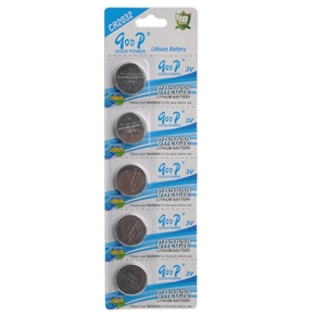 3V GODP CR2032 Lithium Button Cell Battery (5pcs/set)