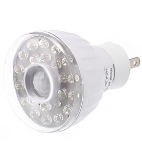 3W AC220V-240V US-plug 23-LEDs Pure White LED Far Infrared Sensor Lamp Light