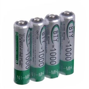 BTY AAA Ni-MH Rechargeable Battery 1000mAh 1.2V (4pcs/set)