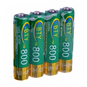 BTY AAA Ni-MH Rechargeable Battery 800mAh (4pcs/set)
