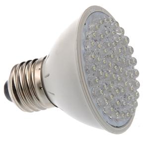Energy-saving E27 3W 60-LED 180 Lumens Cold White LED Bulb Light Lamp