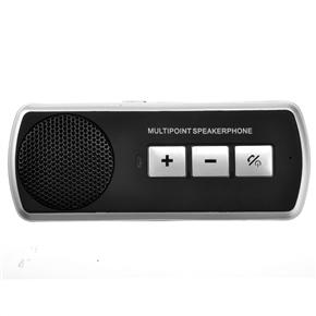 Wireless Bluetooth V3.0+EDR Multipoint Speakerphone Handsfree Car Kit with Sun Visor Clip for PC /Mobile Phones