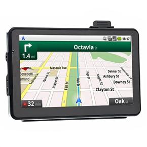 711A 7-inch Resistive Touchscreen 4GB Car GPS Navigator 0.3MP Car DVR Video Recorder with AV-in /Bluetooth /TF Slot