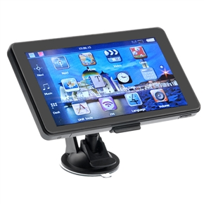 705 7-inch Resistive Screen Windows CE 6.0 4GB Car GPS Navigator with Multimedia Player /FM Radio /TF Slot (Grey)