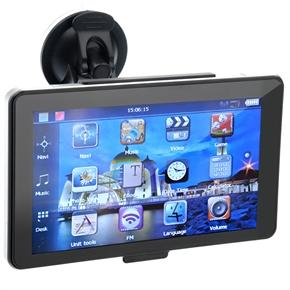 705 7-inch Resistive Screen Windows CE 6.0 4GB Car GPS Navigator with Multimedia Player /FM Radio /TF Slot (Silver)
