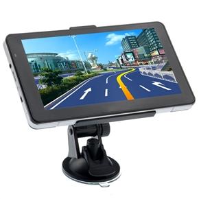 705 7-inch Resistive Screen Windows CE 6.0 Car GPS Navigator with Media Player/AV-In/Bluetooth/4GB TF Card (Silver)