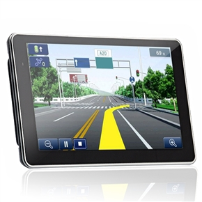 710 7-inch Resistive Screen Windows CE 6.0 4GB Car GPS Navigator with Media Player/FM Radio/TF Card Slot (Black)