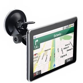 710 7-inch Resistive Screen Windows CE 6.0 Car GPS Navigator with Media Player/AV-in/Bluetooth/4GB TF Card (Black)