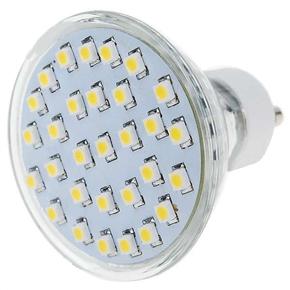 110V GU10 1.5W 30-LED 120-Lumen 3500K Light Bulb