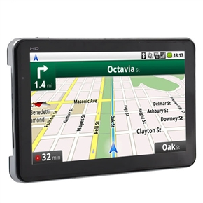 7-inch TFT-LCD Touch Screen Windows CE 6.0 128M/4G HD Car GPS Navigator with Free Maps /Media Player /FM /SD Slot