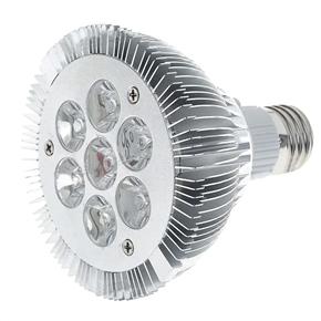 7W 100-265V 560 Lumen 7 LED Warm White Lamp Light Bulb (Silver)