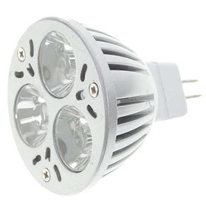 Aluminum MR16 12V 3-LED Red Light Bulb