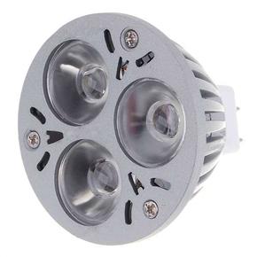 Aluminum MR16 3W 12V 6500K 3 Ultra Bright LED Light Bulb (White)