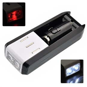 Car Charger White & Red LED Flashlight Rechargeable Emergency USB Power Source