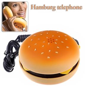 Cute Hamburger Style Telephone Originality Land Line Phone