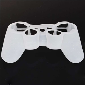 Durable Silicone Case Cover for PS3 Controller (Translucent White)