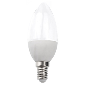 E14 2W 108-Lumen AC220-240V Pure White Light Transparent LED Ceramic Bulb Light Lamp