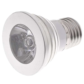 E27 3W RGB Multicolored Bulb Light Lamp with IR Remote Controller