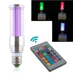 Energy-saving 3W E27 Color-changing RGB LED Light Bulb Lamp with Remote Controller