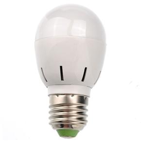 Energy-saving E27 3W 255-Lumen AC85-265V Pure White Round LED Bulb Light Lamp
