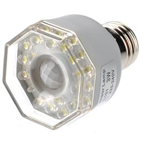Energy-saving E27 3W AC220V Super White 24-LED Far-infrared Sensor Automatic Lamp Light