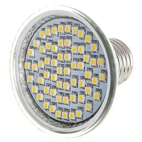 Fashionable 110V E27 60-LED 3500K 240-Lumen Warm White Light Bulb (Silver)