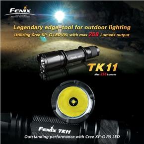 Fenix CREE XP-G LED (R5) TK11 258Lumens LED Flashlight (Black)