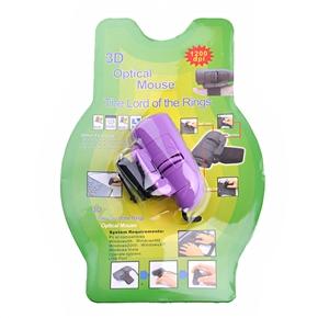 Finger Mouse 1200 DPI USB 3D Optical Mouse by Finger (Purple)