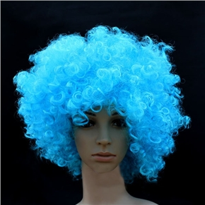 Fluffy Hair Cosplay Wig Hairpiece - Explosion Head (Light Blue)