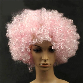 Fluffy Hair Cosplay Wig Hairpiece - Explosion Head (Light Pink)