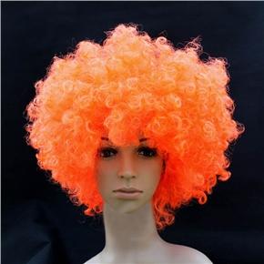 Fluffy Hair Cosplay Wig Hairpiece - Explosion Head (Orange)