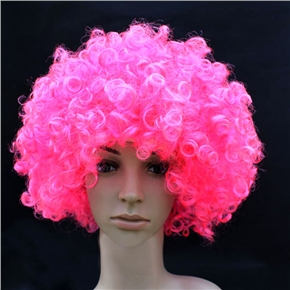 Fluffy Hair Cosplay Wig Hairpiece - Explosion Head (Pink)
