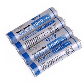 GD-1000mAh 1.2V AAA Rechargeable Ni-MH Battery (4 pcs/set)