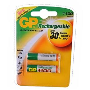GP 1100mAh 1.2V AAA Rechargeable NiMH Battery (2 pcs/set)