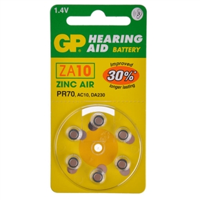 GP ZA10 1.4V Hearing Aid Battery Zinc Air Battery (6 pcs/set)