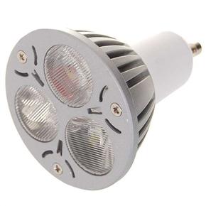 GU10 3W 300 Lumen LED Light Lamp with 3 LED Bulbs (White Light)