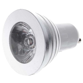 GU10 3W RGB Multicolored LED Lamp Bulb Light with IR Remote Controller (85~265V)