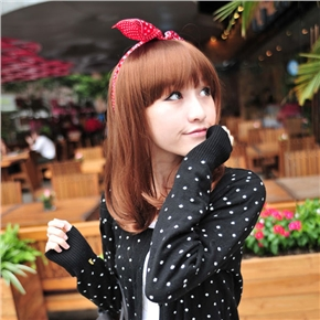 Hot Japanese Style Straight Wig Hair with Neat Eyebrow Bang (Flaxen)