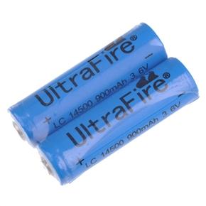 LC14500 900mAh 3.6V Li-ion AA Rechargeable Battery (Blue) - 2 pcs/set