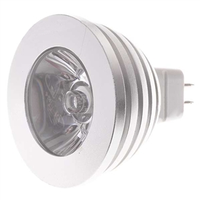 MR16 12V 3W Multicolored Light Lamp with IR Remote Control