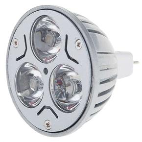 MR16 3-LED 12V 3W 270 Lumens 3250K Light Bulb with Warm White Light