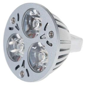 MR16 3-LED 3W 12V 270 Lumens 6300K Light Bulb with White Light