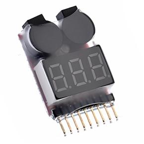 Model Plane Repair Tool Low Voltage Buzzer Alarm 1-8S Battery Voltage Tester