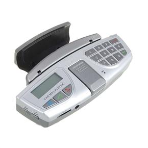 Multi-functional Car Steering Wheel Bluetooth Kit & MP3 Player (Silver)