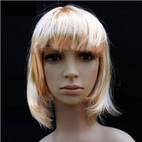 Pretty Straight Bang Cosplay Wig Hairpiece - BOBO Head (Rice White)