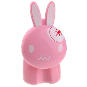 Rabbit Shaped Brightness Adjustable Rechargeable LED Touch Light with 180°Folding Neck (Pink)
