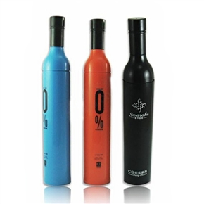 Slim Anti-UV Wine Bottle Shape Folding Umbrella Sport Umbrella