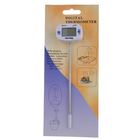 TA288 Multifunctional Digital Food Thermometer with LCD Display (White)